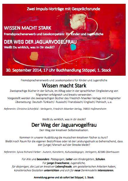 2 Impulsvorträge: Färber-Verlag und Friedrich-Maerker-Verlag